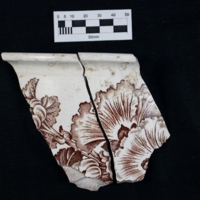 """Trellis and Plants"" Bowl Fragment"